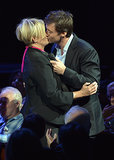 In October, Hugh Jackman gave Deborra-Lee Furness a sweet kiss during a gala in Hollywood.