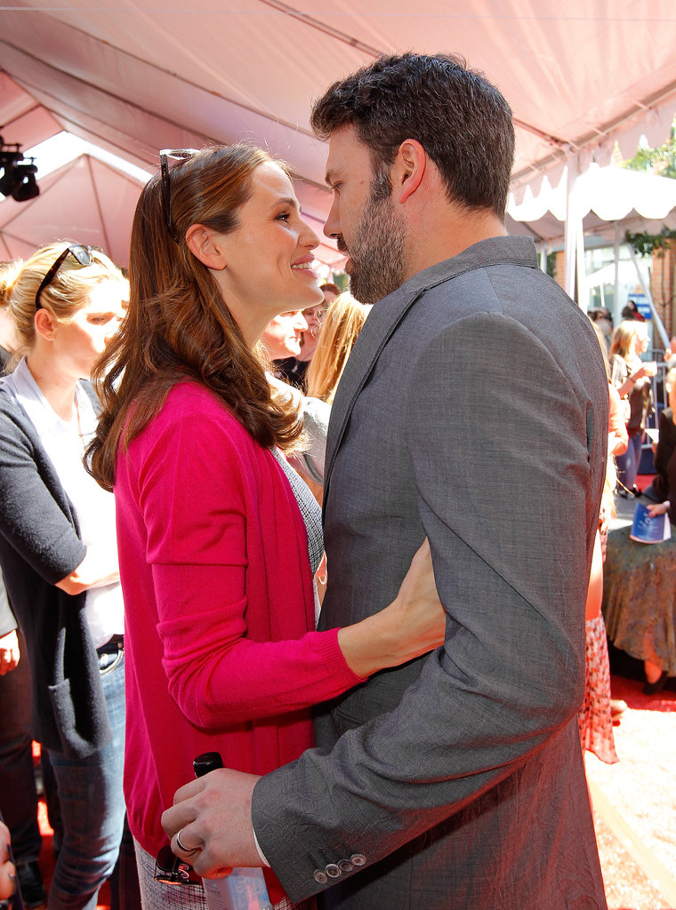 In March, Jennifer Garner cuddled with Ben Affleck at a benefit in LA.