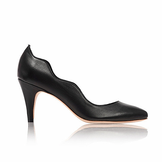 Talk about a functional shoe. I adore this Loeffler Randall Tilda Scallop Pump ($295), a shoe with just enough detail to make it interesting without being too crazy. The modest heel means you're comfortable at the office, but you still look edgy if you go out after work. — Maggie Pehanick, assistant editor