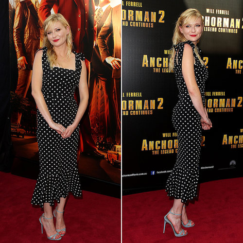 Kirsten Dunst Polka Dot Dress