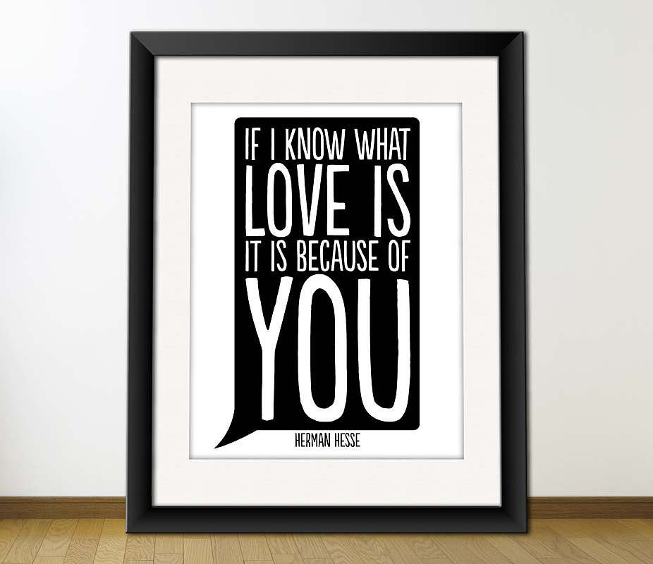 If I know what love is, it is because of you ($4)