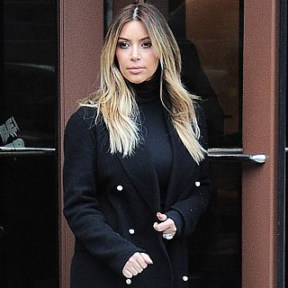 Kim Kardashian Black Turtleneck Outfit