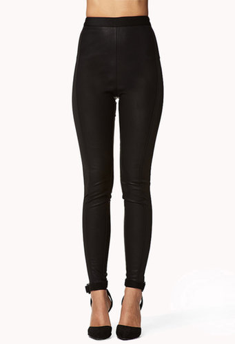 FOREVER 21 High-Waisted Faux Leather Pants