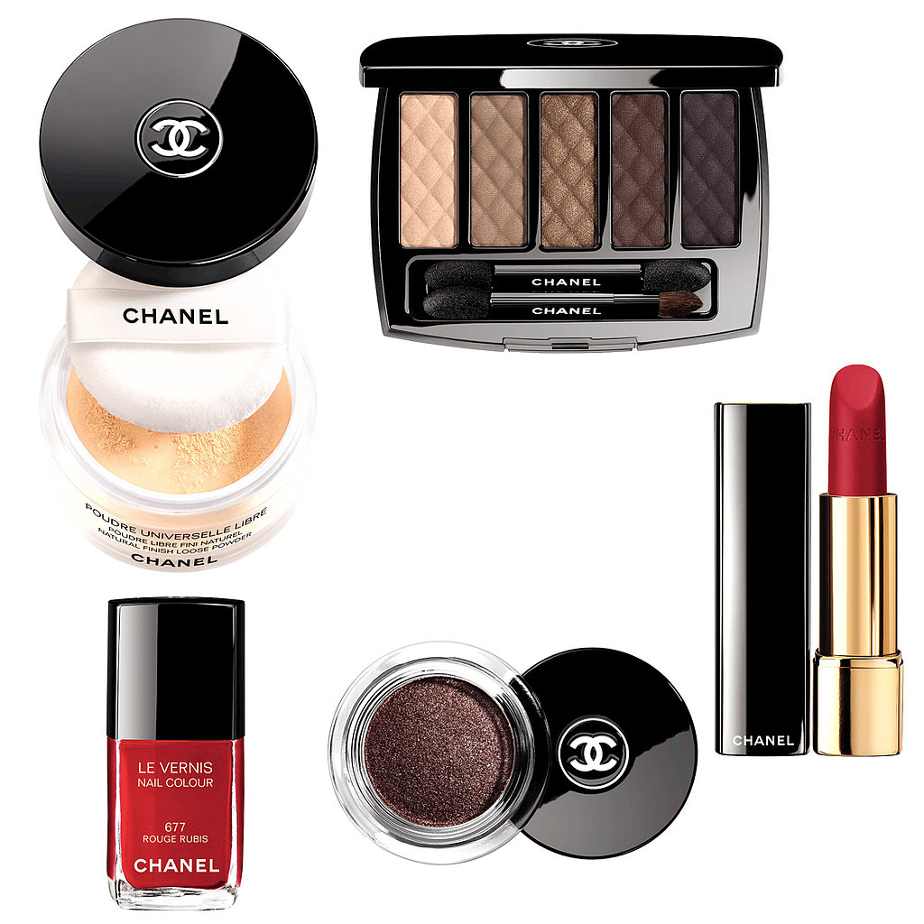 Chanel's Collection Nuit Infine evokes the feeling of an endless night, with sparkling cream shadows, crimson polishes, and sumptuous lipsticks.