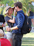 At Coachella in April, Diane Kruger couldn't resist giving Joshua Jackson a pinch.