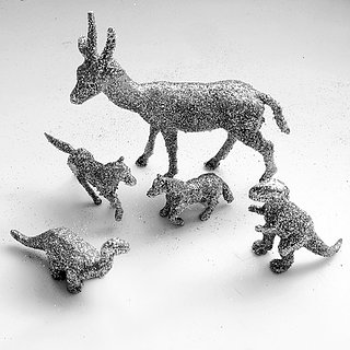 DIY Glitter Plastic Animals