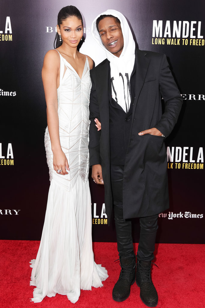Chanel Iman and ASAP Rocky at a screening of Mandela: Long Walk to Freedom.