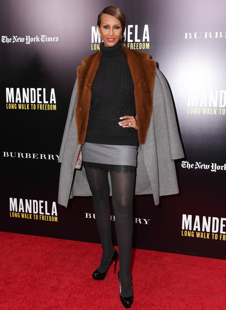 Iman at a screening of Mandela: Long Walk to Freedom.