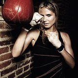 Heidi Klum looked pretty fierce while she was in fighting mode. Source: Instagram user heidiklum