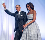 The president and first lady were all smiles at the Congressional Black Caucus dinner in September.