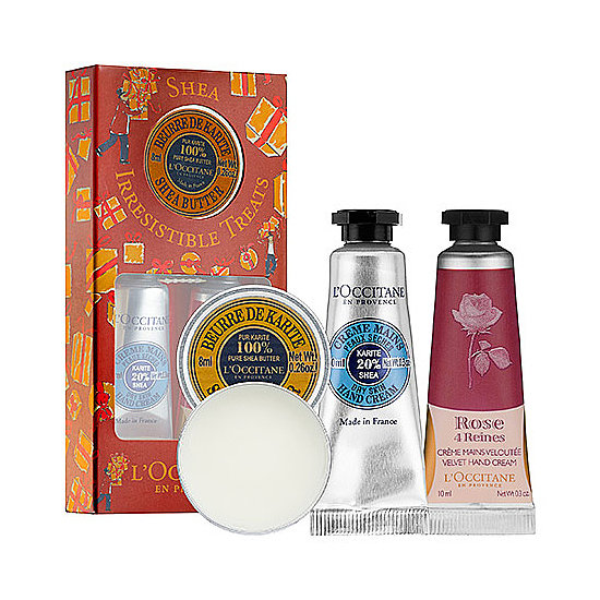 L'Occitane customer favorites are all rounded up in its Shea Irresistible Treats ($16). Give it to your hostess or officemate — or anyone whose paws need pampering.