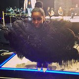 Kelly Rowland donned a turkey-inspired costume on the set of the The X Factor. Source: Instagram user thexfactorusa