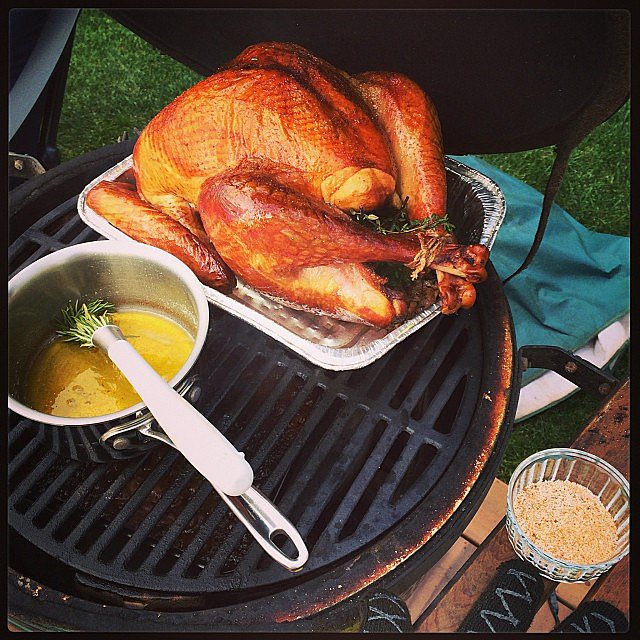Carson Daly put his turkey in the BBQ. Source: Instagram user carsondaly