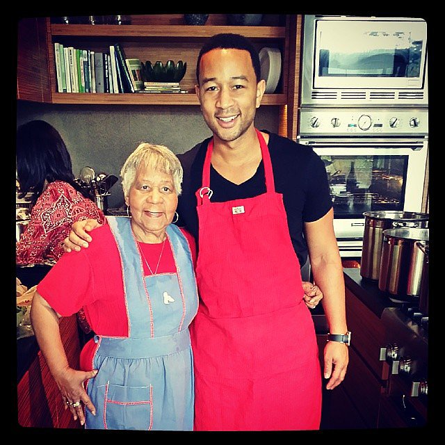 John Legend donned an apron for Thanksgiving. Source: Instagram user johnlegend