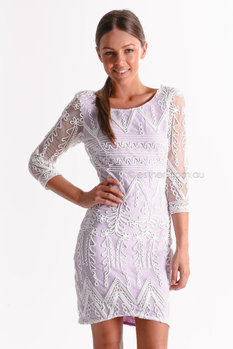 premonition mozaic lace dress - purple | Esther clothing Australia and America USA, boutique online ladies fashion store, shop g