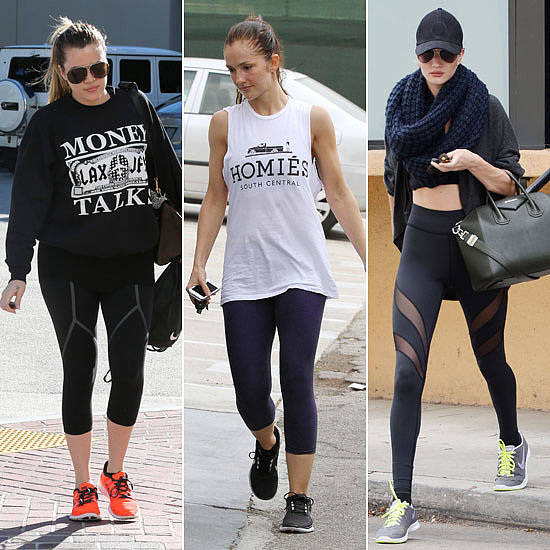 Pictures of Celebrities at the Gym
