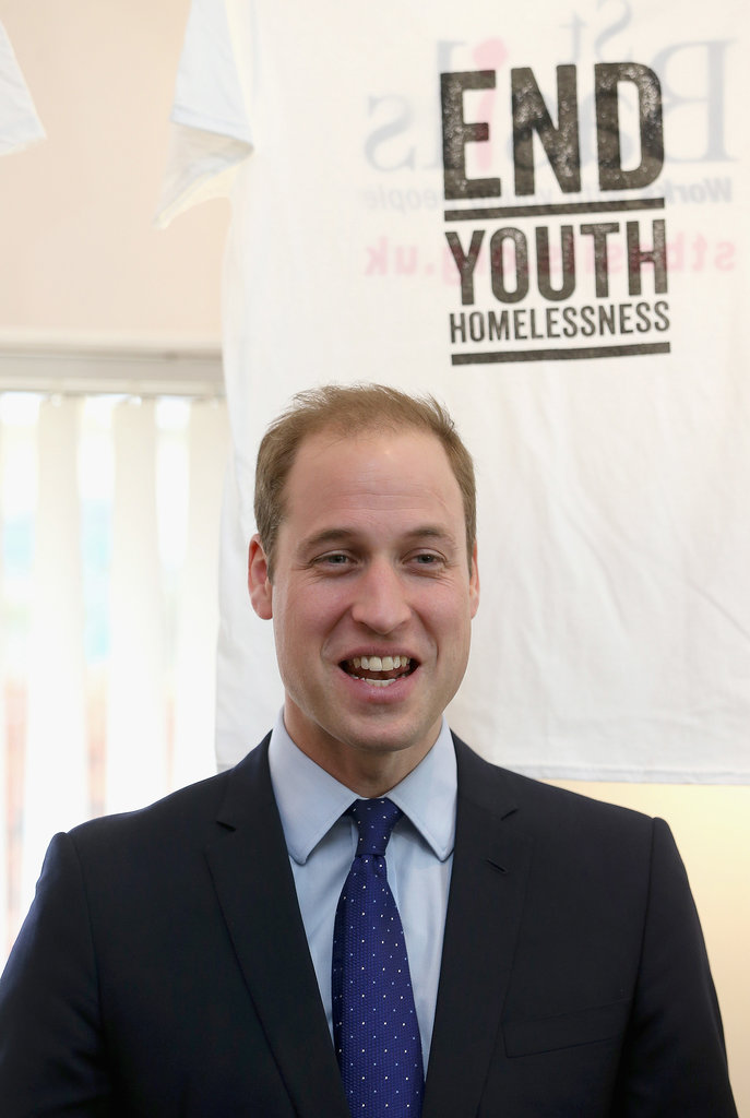 Prince William was all smiles during his Birmingham visit.