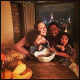 Mariah Carey and her family prepped a pecan pie.  Source: Instagram user mariahcarey