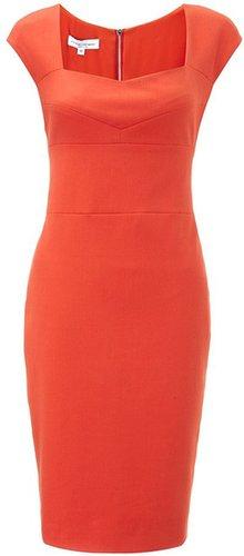 Narciso Rodriguez Coral Cotton Pencil Dress