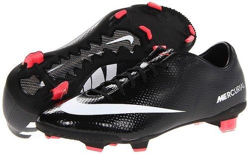 Nike - Mercurial Veloce FG (Black/Dark Charcoal/Atomic Red/White) - Footwear