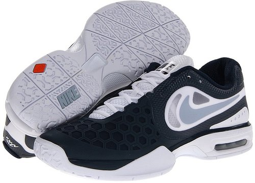 Nike - Air Max Courtballistec 4.3 (White/Armory Navy/Atomic Red/Light Armory Blue) - Footwear