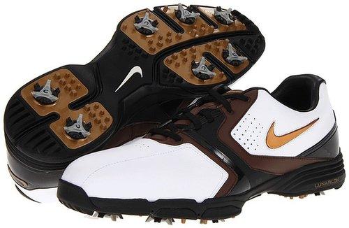 Nike Golf - Lunar Saddle (White/Metallic Stout/Light Chocolate/Black) - Footwear