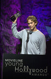 Paul Walker accepted a Movieline Young Hollywood Award in LA in April 2001.