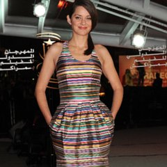 Marion Cotillard Wearing Dior Dress