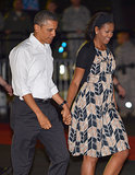 The Obamas wrapped up their holiday vacation in Hawaii, holding hands this past January.