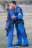 LeAnn Rimes and Eddie Cirbrian shared a kiss after they went skydiving together in Lake Elsinore, CA, in November.