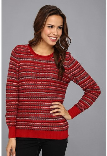 Pendleton - Holiday Stripe Pullover (Red Multi) - Apparel
