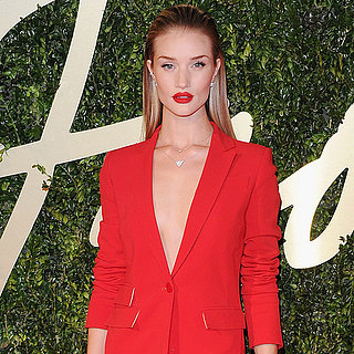 Rosie Huntington-Whiteley Red Suit at British Fashion Awards