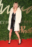 Kate Moss looked gorgeous on the red carpet at the British Fashion Awards.