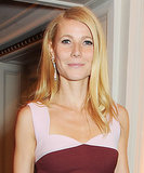 Gwyneth Paltrow was at the British Fashion Awards with he hair blown out straight and parted deep to one side.