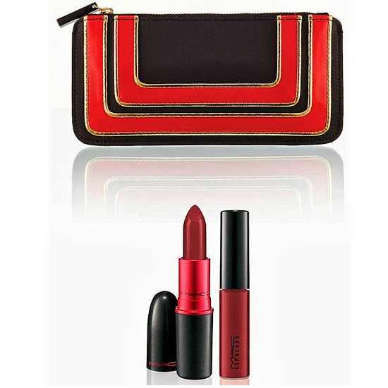 We're already obsessed with MAC Cosmetics' Stroke of Midnight collection, but mixed with the brand's iconic Viva Glam Lipstick and Lipglass ($30), you get an adorable case.