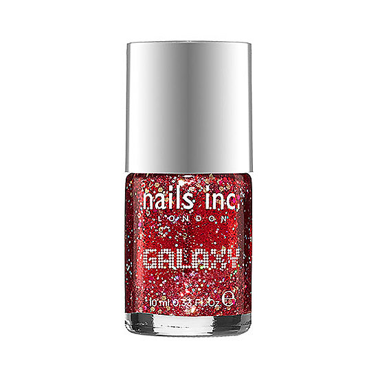 Swipe on this blend of fine red glitter and chunkier foil pieces to transform your standard red manicure into a holographic wonder. Nails Inc. Galaxy in Buckingham Court ($11) looks stunning all on its own and will be a showstopper at any holiday party.