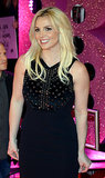 Britney Spears posed for pictures during her official arrival in Las Vegas for her residency.