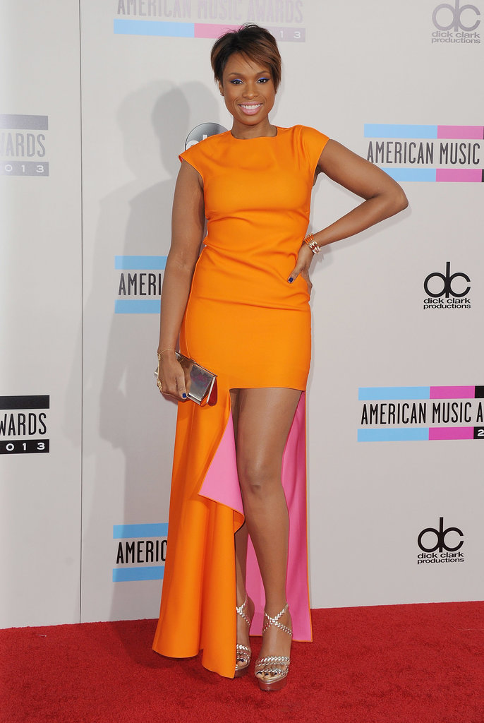 Jennifer Hudson in Orange Dior Dress