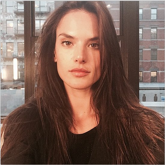 Alessandra Ambrosio removed her highlights and opted for a darker hair hue, but the model claims this is only temporary. Source: Instagram user alessandraambrosio