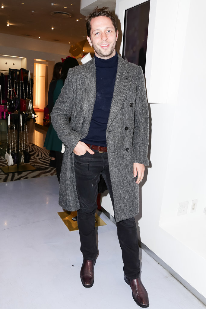 Derek Blasberg at Diane von Furstenberg's holiday capsule collection launch.