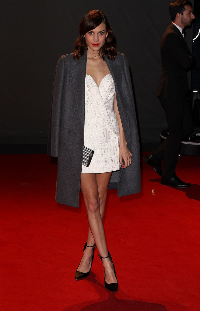 Alexa Chung in Stella McCartney at the British Fashion Awards.
