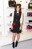 Atlanta de Cadenet in DVF at Diane von Furstenberg's holiday capsule collection launch.