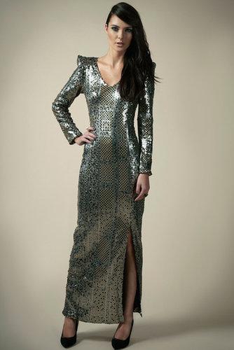 Boutique Tiffany Patchwork Sequin Maxi Dress