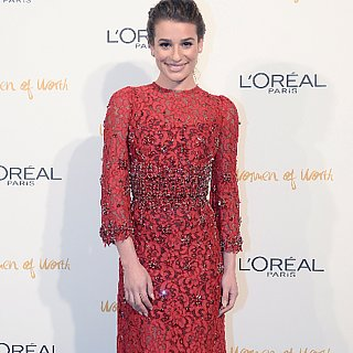 Lea Michele in Dolce & Gabbana Fall 2013 Dress