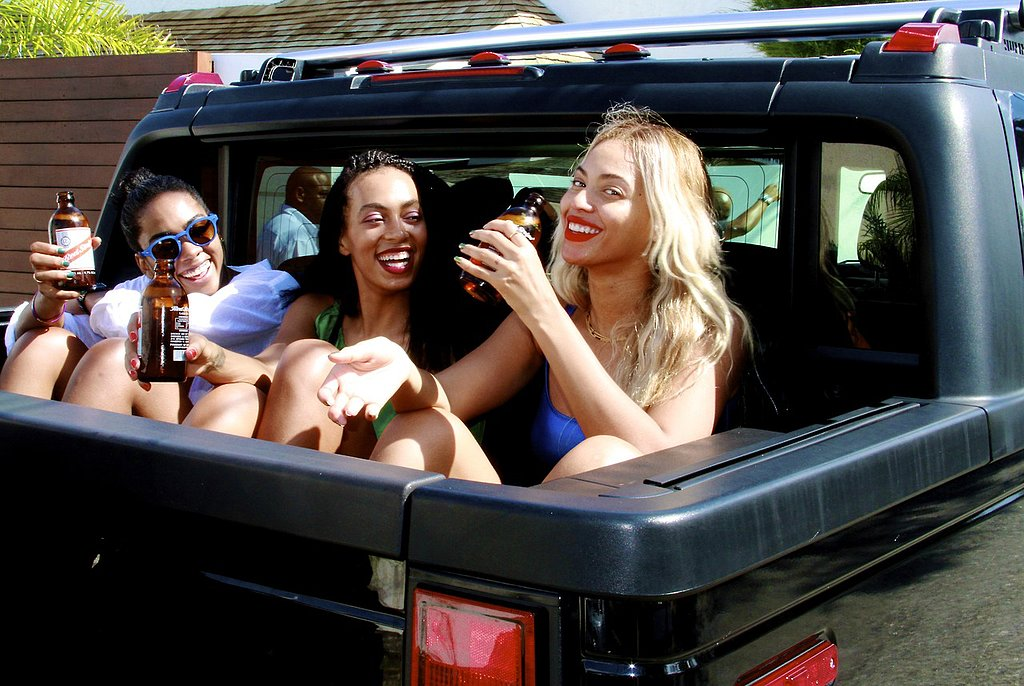 Beyoncé drank beer with Solange and a friend. Source: Tumblr user beyonce