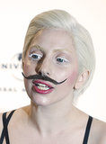 Lady Gaga's hair has no boundaries or gender limitations. Just take this moustache, for example.
