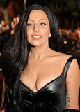 On the MTV Video Music Awards red carpet, Lady Gaga wore a long black wig. A nod to Cher, perhaps?