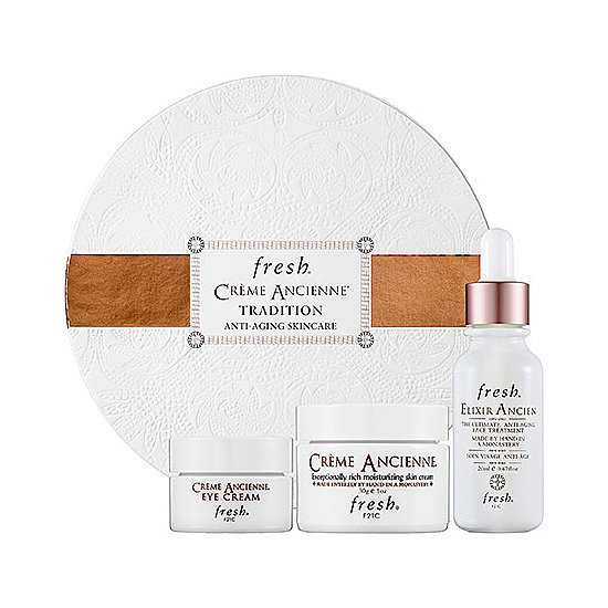 Talk about luxury skin care! Fresh's Crème Ancienne Tradition Anti-Aging Skin Care Set ($250) contains three antiaging formulas that are handmade in a monastery.
