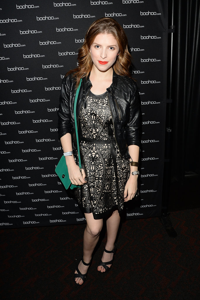 Anna Kendrick swung by BooHoo's VIP lounge.