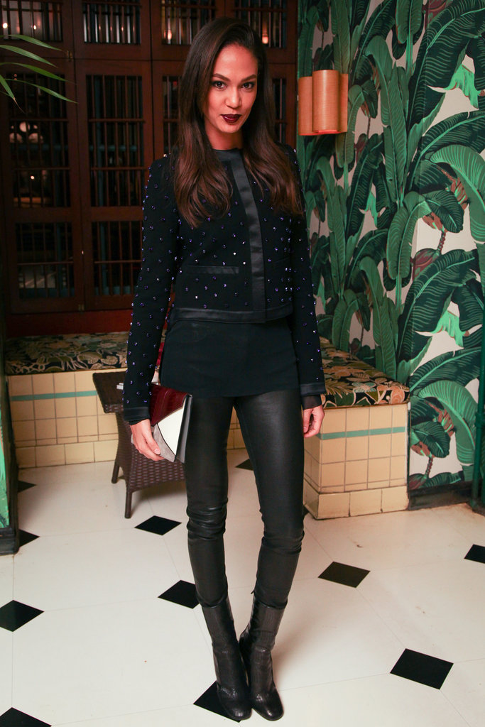Joan Smalls at the dinner celebrating her Elle cover.